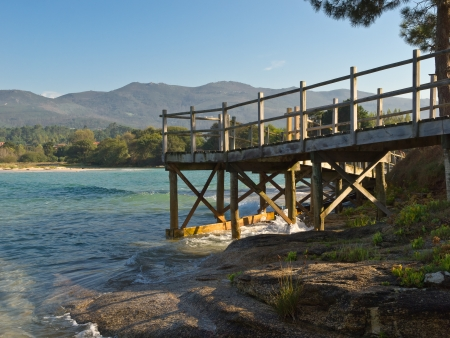 Aguieira beach in Porto do Son Galicia photo
