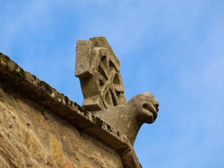 Romanesque cross in Santiago de Compostela