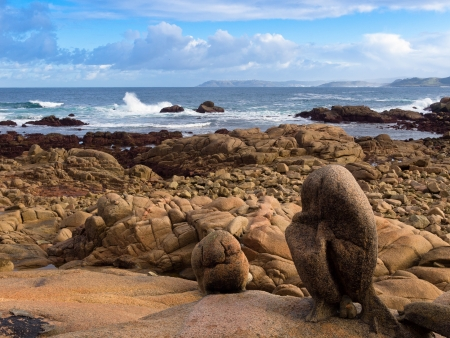 Coast of Dead in Galicia in northwest of Spain Stock Photo
