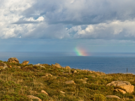 Rainbow on the Coast of the Dead in Galicia photo