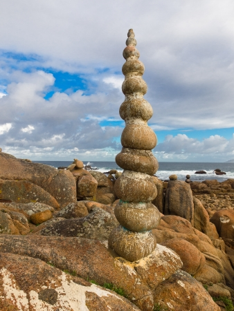 galicia: Costa da Morte in Camelle Galicia Stock Photo