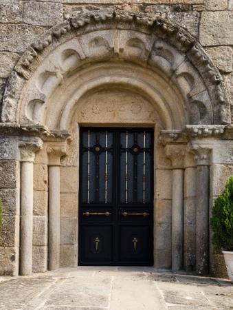 Romanesque church of Santa Maria de Lampai in Teo in Galicia