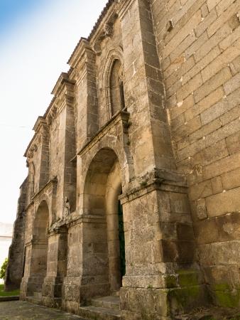 Facade of romanesque and medieval Convent of Santa Clara in Pontevedra Stock Photo
