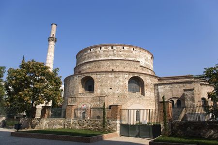 intended: The cylindrical structure was built in 306 on the orders of Galerius, who intended it to be his mausoleum. After Galeriuss death in 311, however, it stood empty until the Emperor Constantine I ordered it converted into a Christian church.