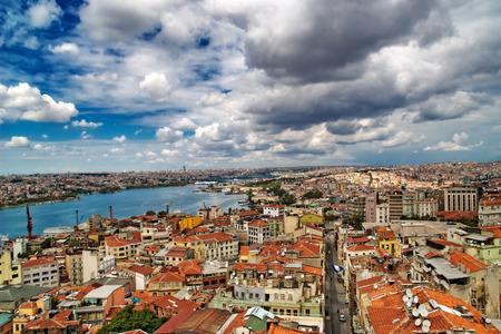 View from Galata tower to Golden Horn, Istanbul, Turkey Standard-Bild