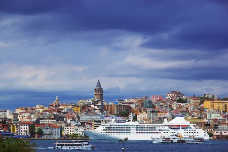 seabus: Bosphorus and Galata Tower, Istanbul, Turkey