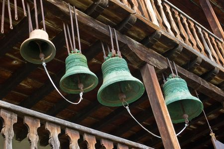peal: Bells in Monastery Stock Photo
