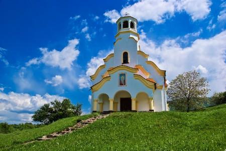 Old church at North-West Bulgaria Standard-Bild