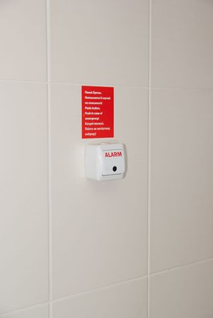 Panic Button in bathroom Stock Photo - 6729947