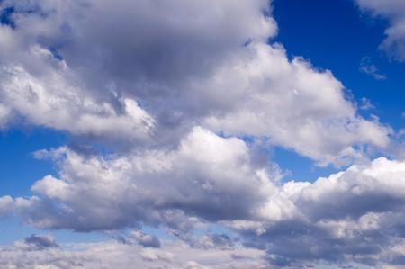 Weiß Wolken über blauer Himmel