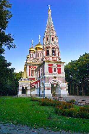 Die Memorial Tempel der Geburt Christi, erbaut besser bekannt als der Gedächtniskirche Shipka in der Nähe der Stadt Shipka in Stara Planina von 1885 bis 1902, Bulgarien