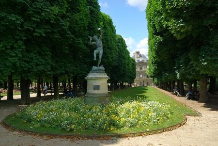 Park um Luxemburg Palace, Paris, Frankreich