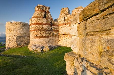 Festung der Altstadt von Nessebar, Bulgarien Standard-Bild
