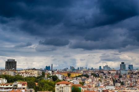 Stadtansicht von Istanbul als vom Bosporus gesehen
