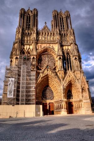 Notre-Dame de Reims, Frankreich Standard-Bild
