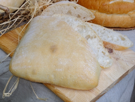 Fresh homemade Bulgarian bread photo