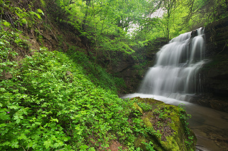 Waterfall in the forest of Bulgaria