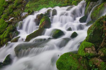 Close up shot of waterfall, Bulgaria
