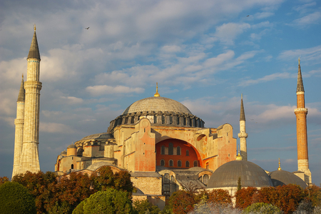 View of Hagia Sophia, Istanbul, Turkey