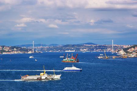 Bosphorus bridge in Istanbul, Turkey Standard-Bild
