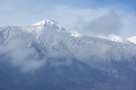 Panorama of winter mountains, Bulgaria