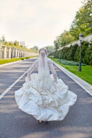 parting the sea: Runaway Bride in wedding day