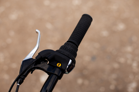Right handle with a hand brake of a sports bike