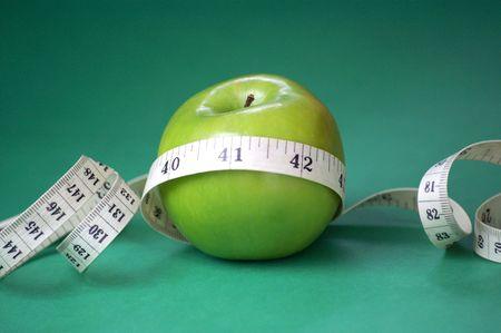 apple shape diet Stock Photo
