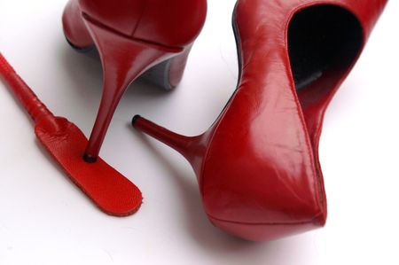 Red High Heels and Crop