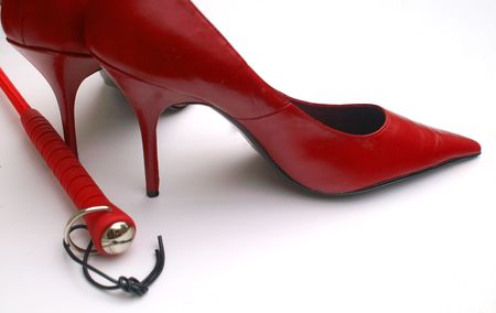 Mistress with Red Heels Stock Photo