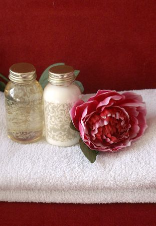 Rich Spa Products Stock Photo