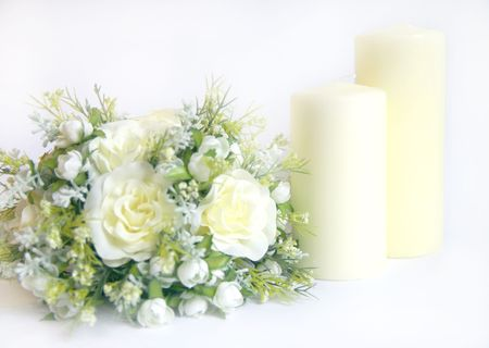 church candles and alter flowers