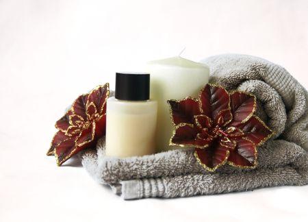 festive Spa Bathroom Stock Photo