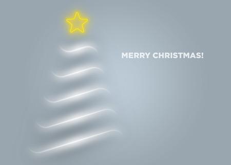 minimalista: Ez egy minimalista karácsonyi üdvözlőlap. Illusztráció