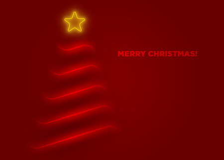 minimalist: This is a minimalist Christmas greeting card. Illustration