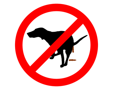 Traffic sign: It´s forbidden for dogs to take a dump