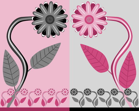 mixed family: Flowers Illustration