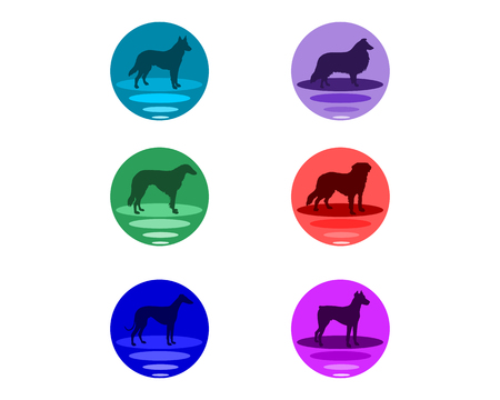 afghan hound: Dogbuttons Illustration