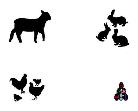 pasen schaap: Alles over Pasen Stock Illustratie