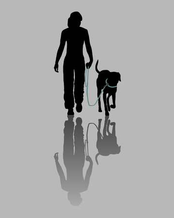 obedience: Formaci�n perro (obediencia): Comando: Ir a la correa! Vectores
