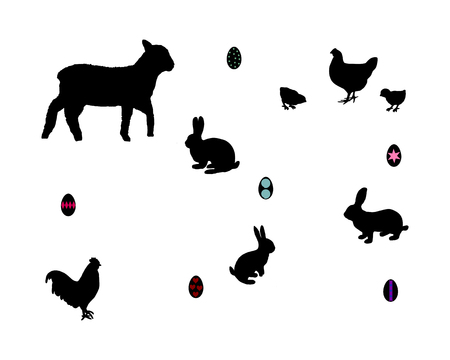 All about easter Vector