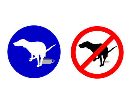 Traffic sign for dogs Vector