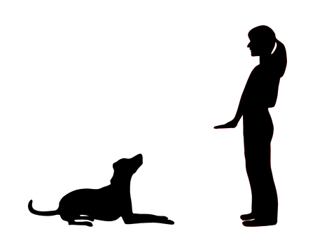 pointer dog: Dog training (obedience): command sit down