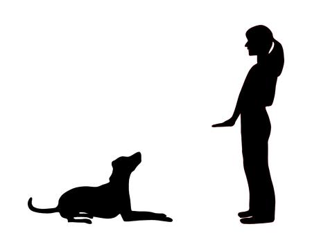 Chien de formation (l'obéissance): commande de s'asseoir