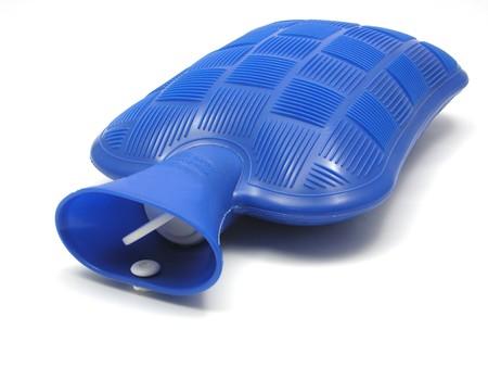 w�rmflasche: Blue Warmwasserheizkesseln Tasche auf einem wei�en Hintergrund