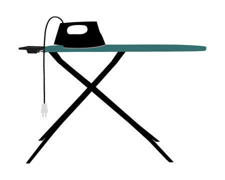 electric iron: Ironing board and electric iron