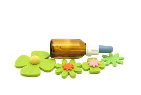 remedies: Bach flower remedies and felt decoration