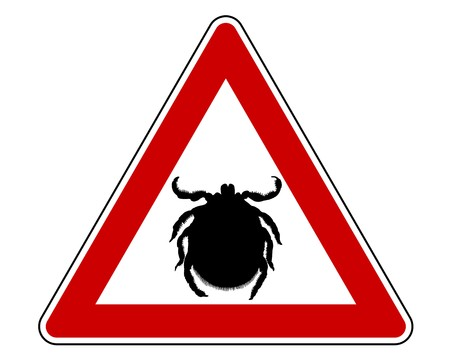 Tick warning sign photo