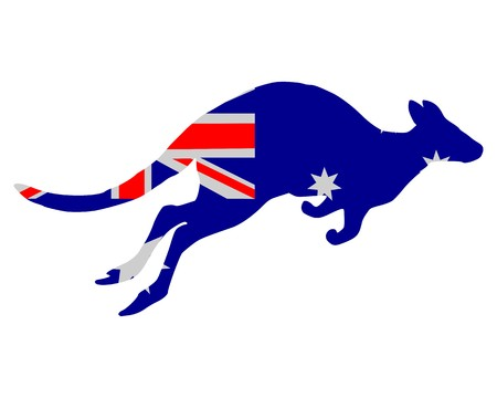 Flag of Australia with kangaroo Stock fotó
