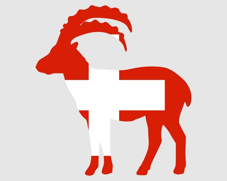Flag of Switzerland with capricorn photo
